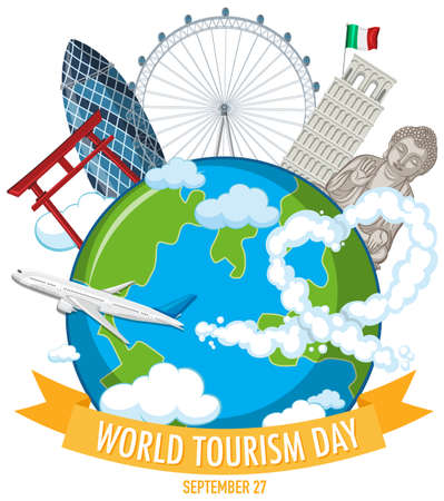 World tourism day symbol illustration