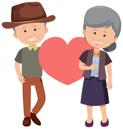 Old person cartoon character illustration
