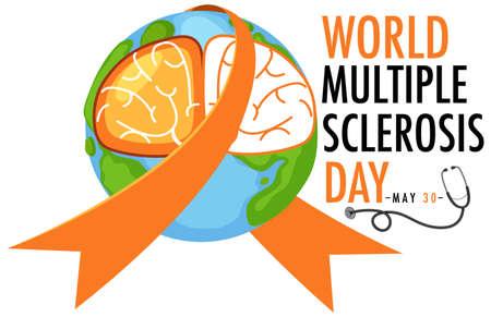 World Multiple Sclerosis Day logo or banner illustration