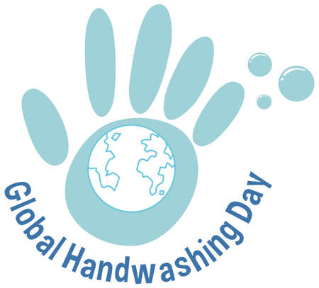 Global handwashing day icon illustration
