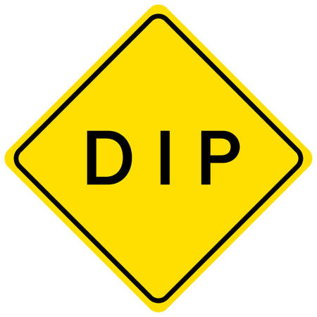 Dip yellow sign on white background illustration
