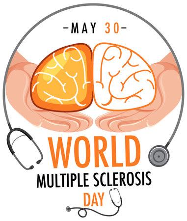 World Multiple Sclerosis Day or banner illustration