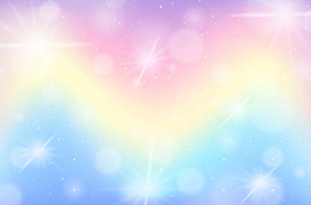Rainbow pastel blurred background illustration