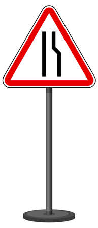 Red traffic sign on white background illustration