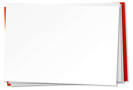 Blank paper note template on white background illustration