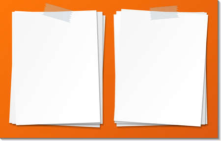 Set of empty sticky note paper template illustration