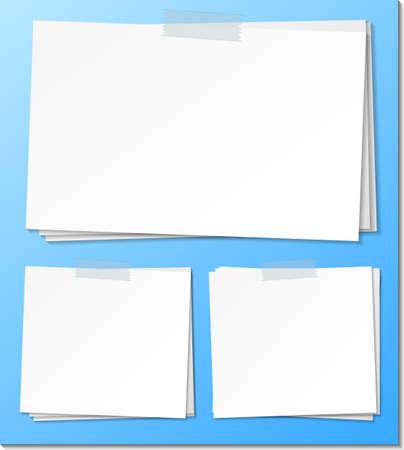 Set of empty sticky note paper template illustration