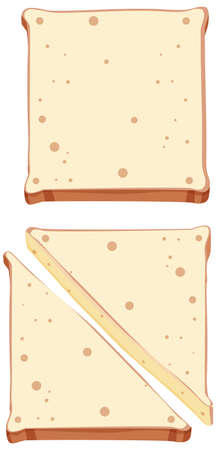 Set of healthy toast and bread illustration Ilustrace
