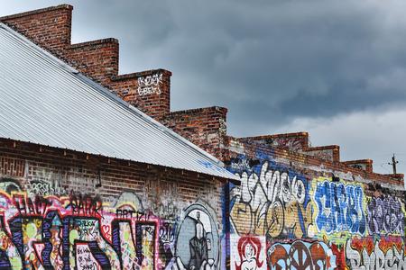 Graffiti in the River Arts District of Asheville