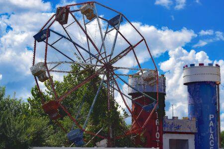 Abandoned Theme Park Фото со стока