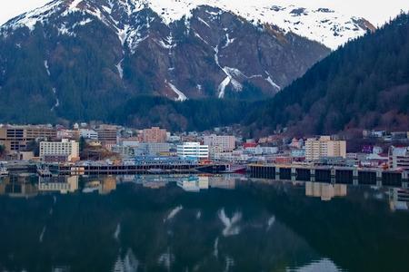 Juneau Harbor Overlook Alaska Reklamní fotografie