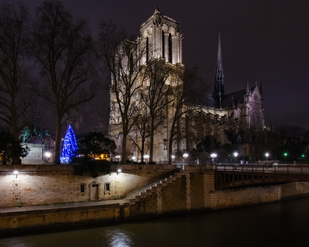 Notre Dame Cathedral Across River