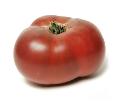 heirloom: Hierloom Tomato Isolated on White