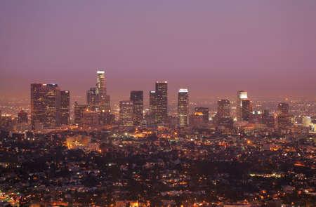 LA City Skyline Stok Fotoğraf