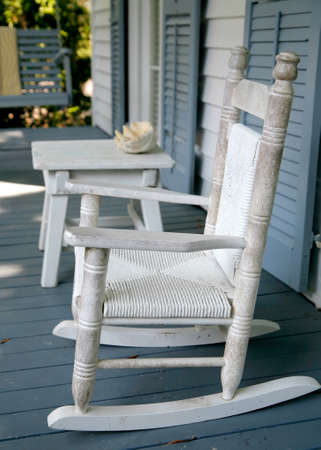 Old Rocking Chairs on a Southern Porch
