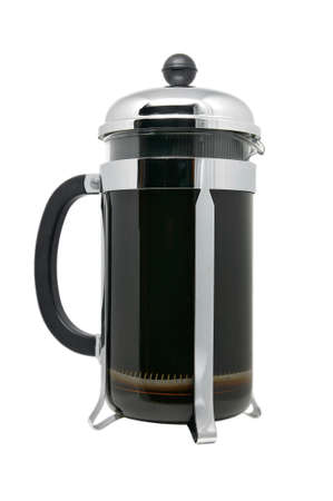 coffee pot: French Press Isolated
