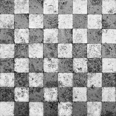 Grunge Checkerboard Mosaic