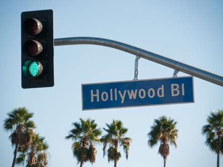 famous industries: Hollywood Blvd Sign
