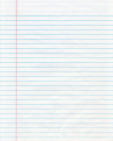 Notebook Paper Standard-Bild