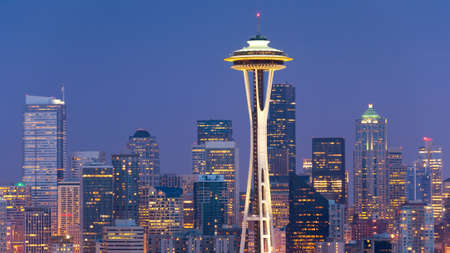 Seattle Skyline with Space Needle photo