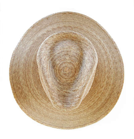 Straw Cowboy Hat Isolated