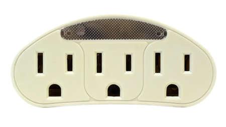 receptacle: Three Edison Plugs