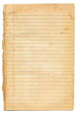 paper sheet: Vintage Lined Notebook Paper Stock Photo