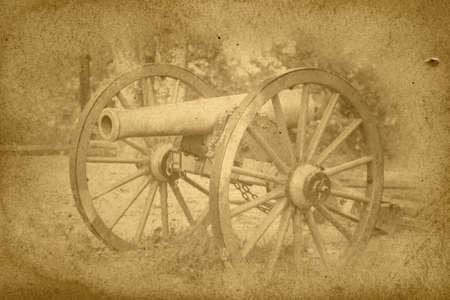 Vintage War Canon Photograph