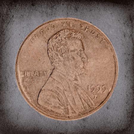 penny: Vintage Grunge Penny Macro
