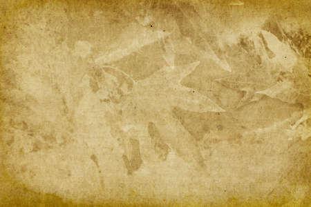 Vintage Leaf Imprint Background