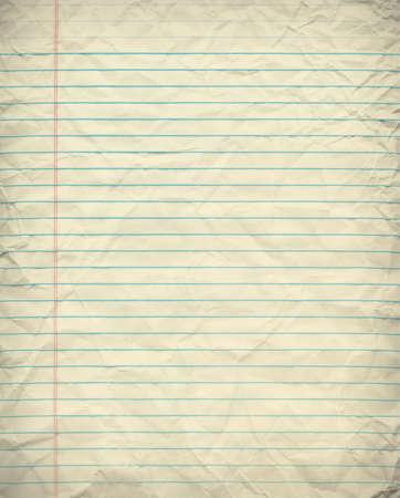 blank sheet: Vintage Papel alineado del cuaderno Foto de archivo