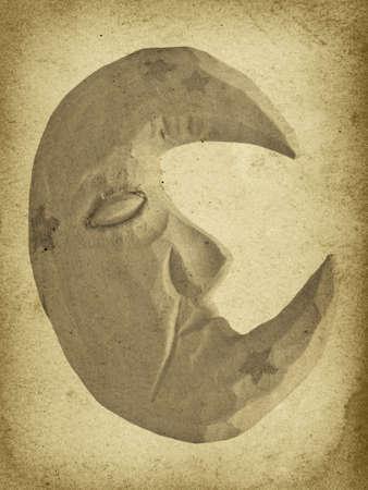 Vintage Moon Man Imprint Stock fotó