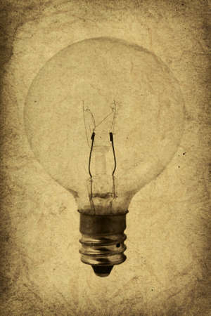 yellowed: Vintage Style Light Bulb