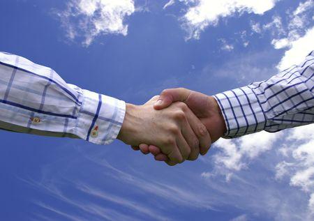 pact: Business handshake Stock Photo