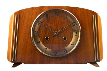 front elevation: Front elevation of old clock from 1950s