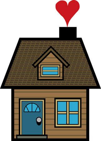 Simple cartoon house