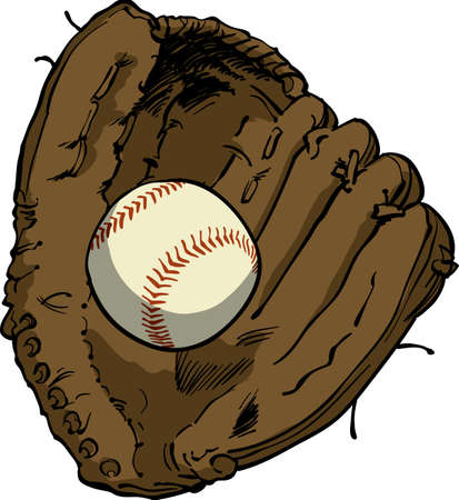 outfielder: Baseball & Glove