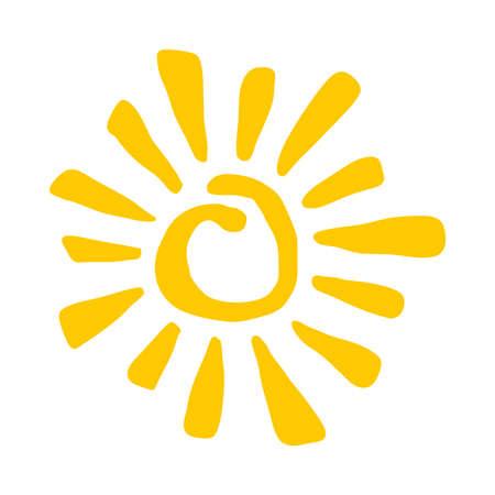 Sun Vector Icon 일러스트