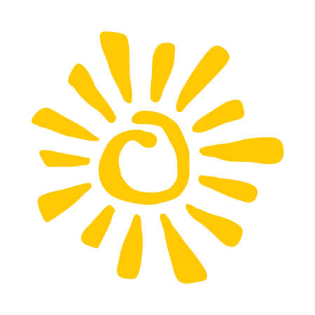 sunny season: Sun Vector Icon Illustration