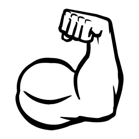 male arm: Biceps Flex Arm Vector Icon