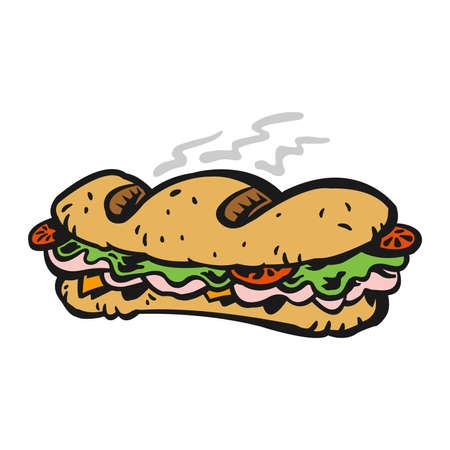 bocadillo: Sándwich de Sub Vectores