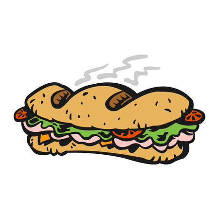 ham sandwich: Sub sandwich