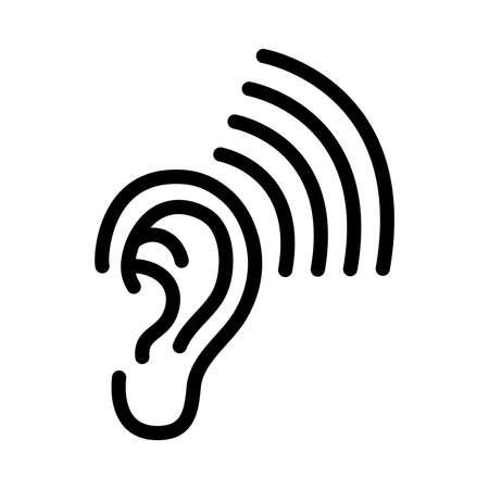by ear: Ear vector icon