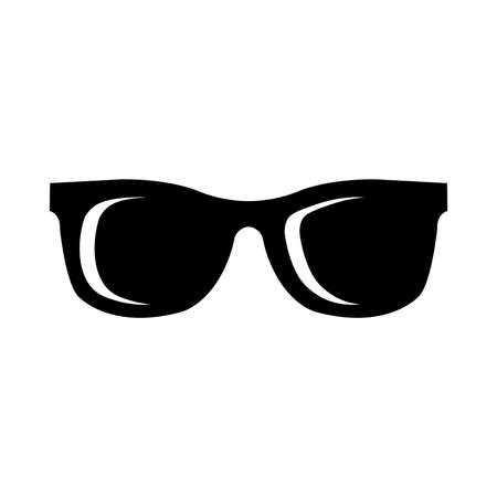 sun protection: Sunglasses Vector Icon Illustration