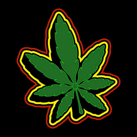 joint: Marijuana Pot Weed Leaf Symbol