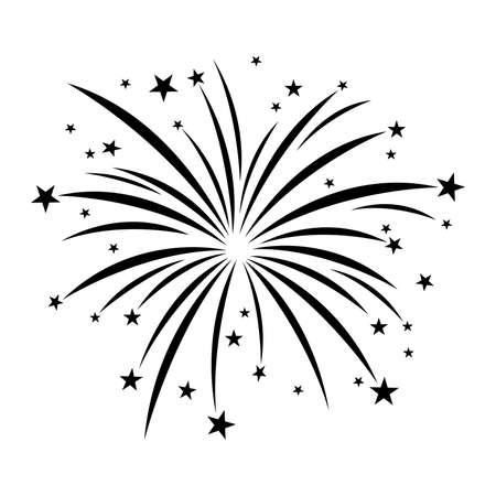 fireworks on white background: Fireworks Vector Icon