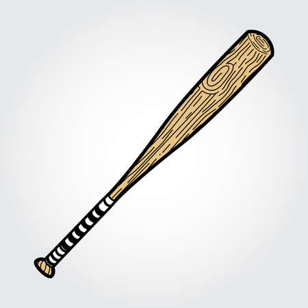 baseball pitcher: Baseball Bats Vector Icon Illustration