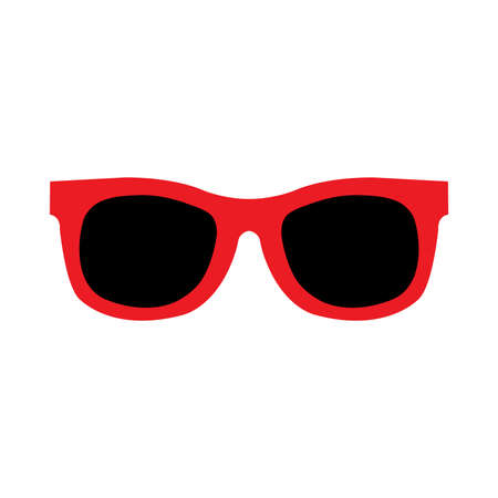 sunglasses reflection: Sunglasses Vector Icon Illustration