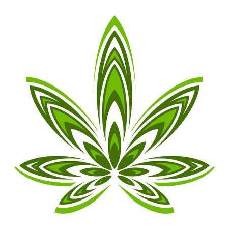 Marijuana Pot Grasblatt-Symbol Standard-Bild - 48638971