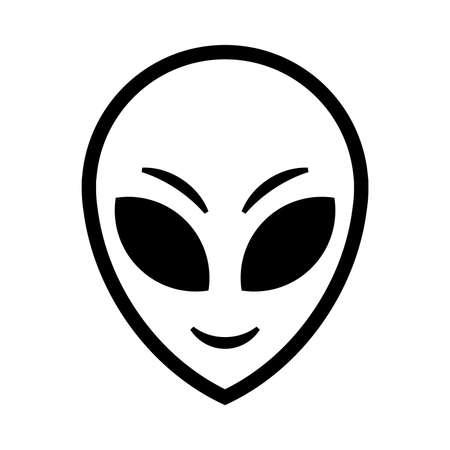 Alien Head Vector Icon Illustration